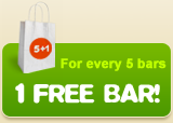 For every 5 bars 1 free bar