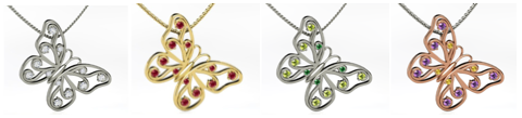 Customized pendants from Gemvara