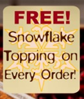 Free Snowflake Topping on your customized chocolate bar