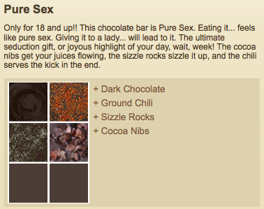 Pure Sex Chocolate Bar