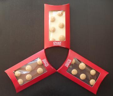 cookies on chocolate