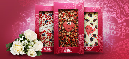 personalized Valentine's Day chocolate