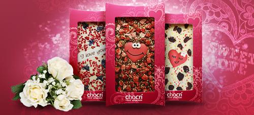 personalized Valentine's Day chocolate